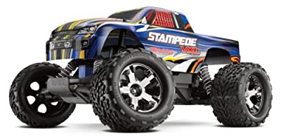 Traxxas RTR 1/10 Stampede VXL 2.4GHz with 7 Cell Battery and Charger (Colors May Vary)