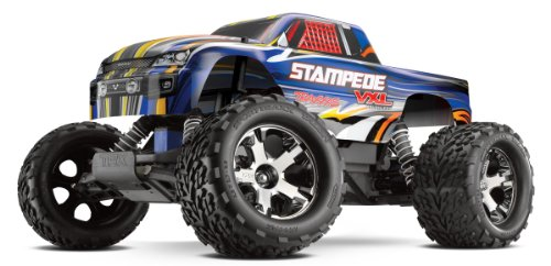 Traxxas RTR 1/10 Stampede VXL 2.4GHz with 7 Cell Battery and Charger