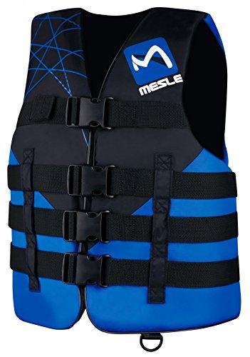 MESLE Schwimmweste Ride 4-Gurt, 50 N Schwimmhilfe, Doppelgrößen, schwarz-blau