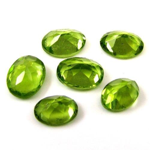 Natural Peridot Aaa Quality Loose Gemstone 6X4 Mm Faceted Oval 2 Pieces Pair From Dashrath International front-1071703