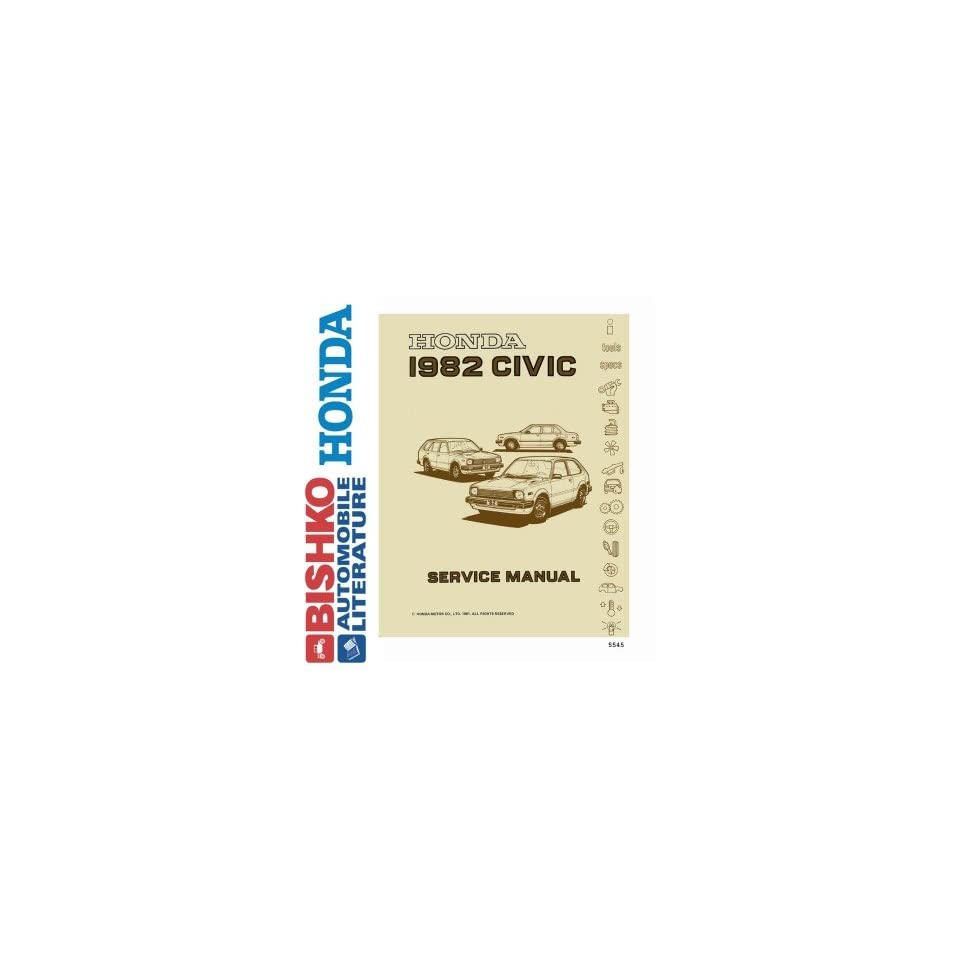 1982 Honda Civic Shop Service Repair Manual CD Engine Drivetrain Wiring OEM