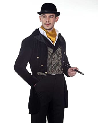 Steampunk Men's Coats Steampunk Victorian Gentlemans Tailcoat Costume  AT vintagedancer.com