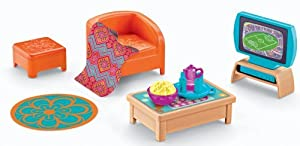 Furniture Pack Adds To The Playtime Together Dora And Me Dollhouse - Fisher-Price Dora The Explorer Playtime Together Dora and Me Dollhouse Basic Living Room