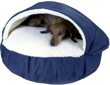 Snoozer Orthopedic Cozy Cave Pet Bed, Large, Navy