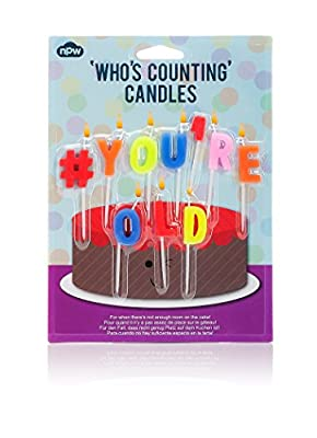 NPW Hashtag # You're Old Birthday Candles from NPW
