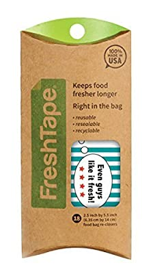 FreshTape Food Bag Re-Sealer, Retro Design, Set of 18 by Harold Import Company, Inc.