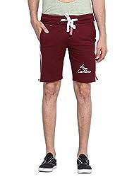 Dark Mahroon Light Fleece Shorts XX-Large