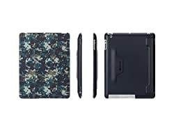 Griffin Blue/ Grey Pixelcrash IntelliCase Folio, iPad 2, 3, and 4th Gen - Stand and folio case with back shell