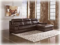Hot Sale Right Facing Espresso Sectional by Ashley Furniture