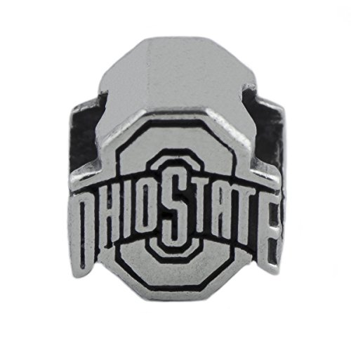 NCAA Ohio State Buckeyes .925 Sterling Silver Logo Charm Bead, Ohio State Jewelry
