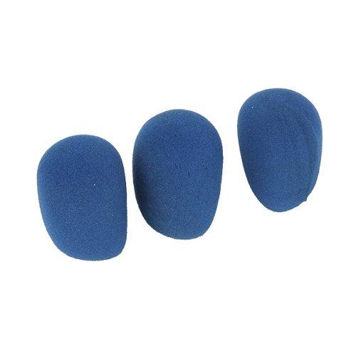 Generic Microphone Windshield Wind Shield Sponge Thicken Foam Cover Blue Pack Of 3