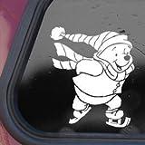 Disney White Sticker Decal Winnie The Pooh Bear Die-cut White Sticker Decal