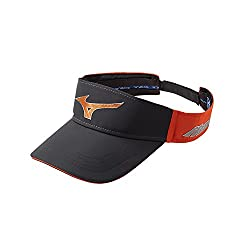 Mizuno Men's Mizuno Sonic Visor, Adjustable, Graphite/Comet