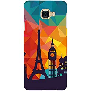 Casotec Colored Paris Design 3D Printed Hard Back Case Cover for Samsung Galaxy C5