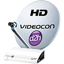 Videocon D2H HD Digital Set Top Box With 12 Months Super Gold Pack And 12 Months HD Access Free