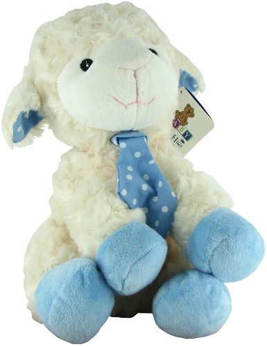 Plush Rattle Blue Lamb by Beverly Hills Teddy Bear Co. - 1
