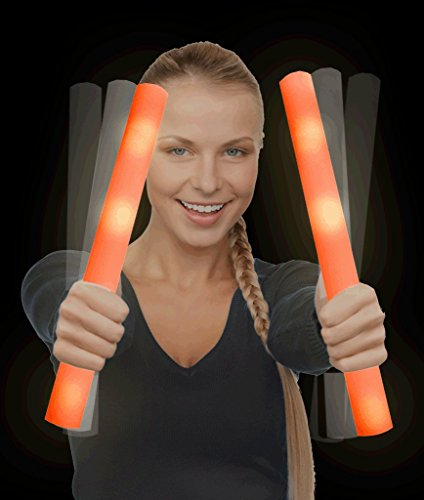 LED Foam Stick Baton Supreme - Orange - 6 Pack