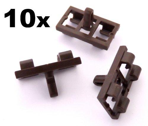 bmw-x5-e53-tur-untere-wetter-streifen-gummi-dichtung-clips-braun-x10-51337052945-kostenloser-versand