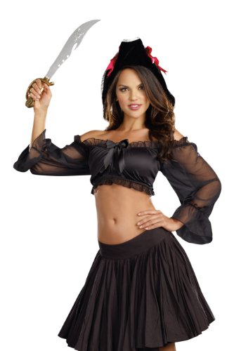 Dreamgirl Women's Sexy Gypsy and Pirate Costume Accessory, Peasant Top