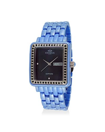 Oniss Women's on7700-L/BU/BK/BK Blue/Black High Tech Ceramic Watch