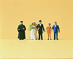 Wedding Group Protestants (5) HO Scale Preiser Models