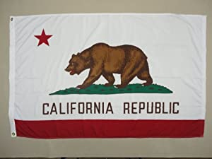 5x8' California 2ply Polyester State Flag