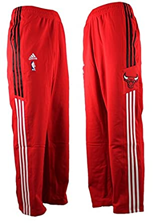 adidas tm chicago bulls nba jogginghose trainingshose rot. Black Bedroom Furniture Sets. Home Design Ideas