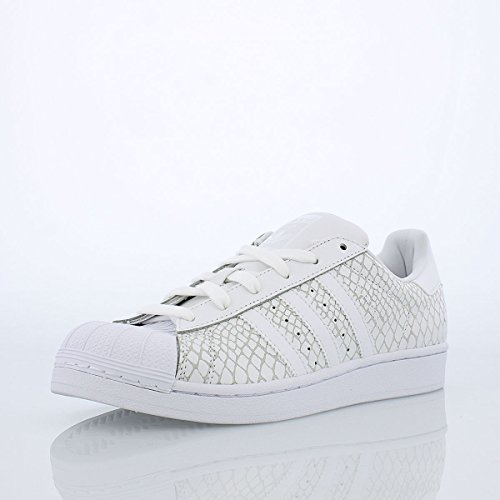 Adidas Originals Women's Superstar W Casual Sneaker,White/White/White,11 M US