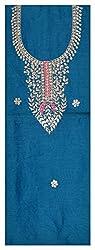 Astha Boutique Women's Synthetic Kurta Fabric (Blue)