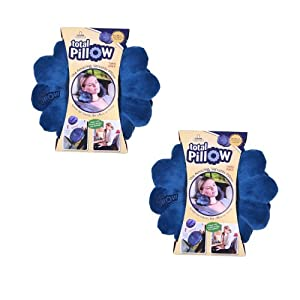 Clever Comforts Total Pillow 2-Pack with Bonus Matching Travel Bags