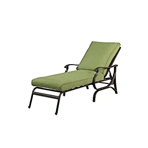 Pembrey Patio Chaise Lounge With Moss Cushion Patio Lawn Amp