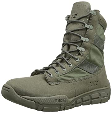 Rocky Mens Sage Green Vegan Lightweight C4T Trainer Military Duty Boots 4 M