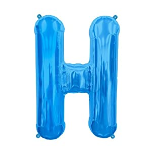 Foil Letter Balloons Amazon Amazoncom 16 Inch Letter H Blue Air Filled Foil