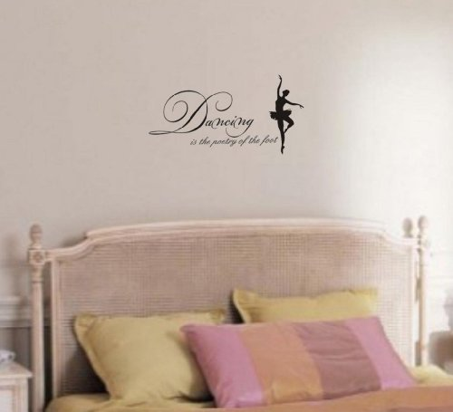 Dancing Is The Poetry Of The Feet Vinyl Wall Art Inspirational Quotes And Saying Home Decor Decal Sticker front-972413