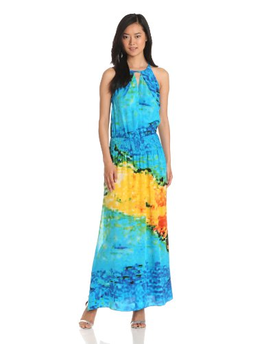 Tracy Reese Women's Halter Maxi, Swimmer, Small