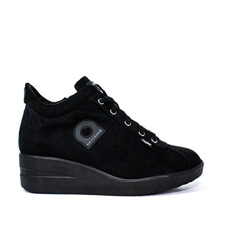 Cheville Wedge Sneaker charnière interne New daim noir Agile By Rucoline 226 Un Automne Hiver 2015-2016 italienne AI 15/16