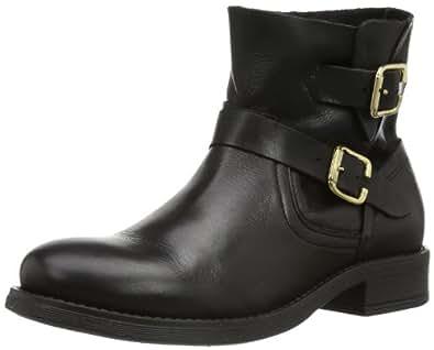 PIECES IZA LEATHER SPRING BOOT BLACK 17053985 Damen Bootschuhe, Schwarz (Black), EU 41