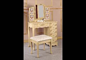 Coaster queen anne style vanity table and for Queen anne style kitchen