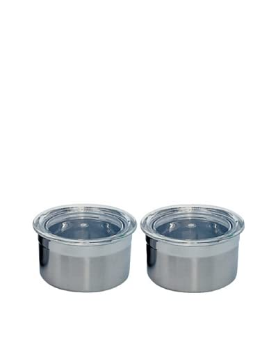 BergHOFF Set of 2 Stainless Steel Mini Canisters, .25-Cup As You See