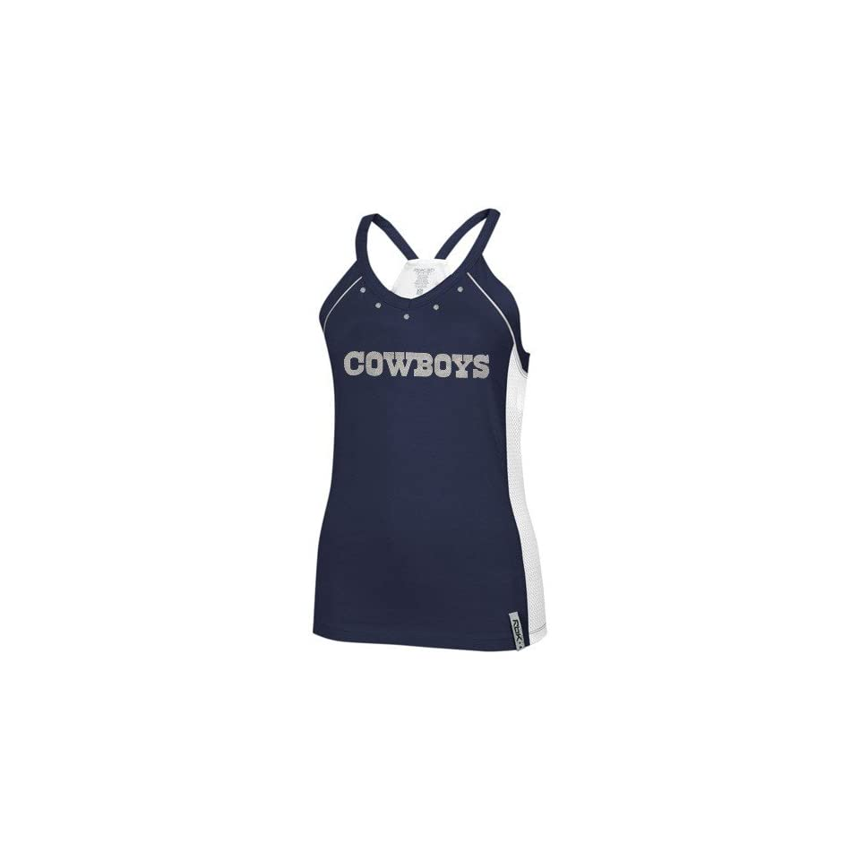 4c228c42d Reebok Dallas Cowboys Ladies Navy Blue Asteroid Racerback Tank Top ...