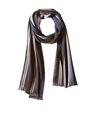 Valentino Women's Striped Scarf, Brown