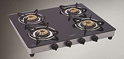 Elica CT Vetro 694 SS 4 Burner Gas Cooktop