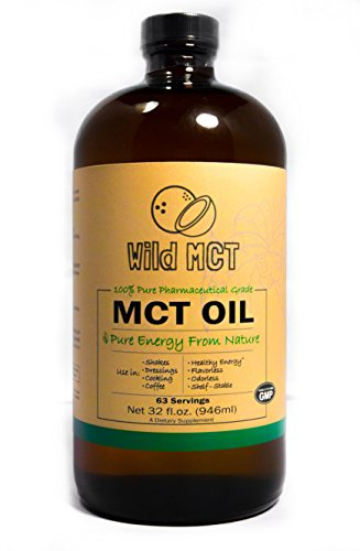 Wild Foods, 100% Mct Oil, Pharmaceutical Grade, 32-Fluid Ounces