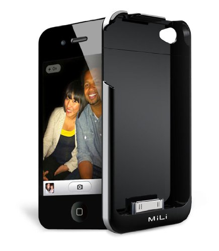 Oiriginal MiLi Fashion Power Spring 4 on-the-go Power Rechargeable External Battery Case for the iPhone 4