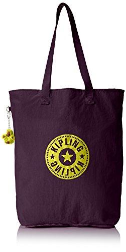 Kipling Hip Hurray 5, Shopper Donna, Viola (REF34Z Plum Purple), 40.5x40.5x14.5 cm (B X H X T)