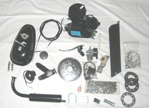 Bicycle Motor Kit 80cc (Silver, 80cc)