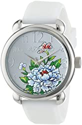 Ed Hardy Women's FO-WH Fountain White Quartz Analog Watch