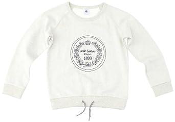 Petit Bateau - Sweat-shirt - fille - multicolore (écru chine/abysse) - 12 ans