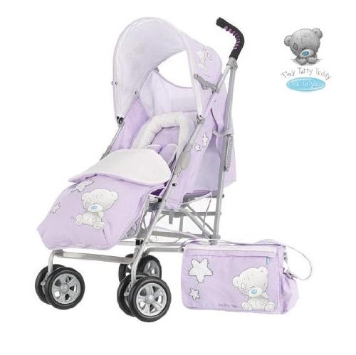 O'Baby Tiny Tatty Teddy Baby Pushchair Package - Lilac - 0m+
