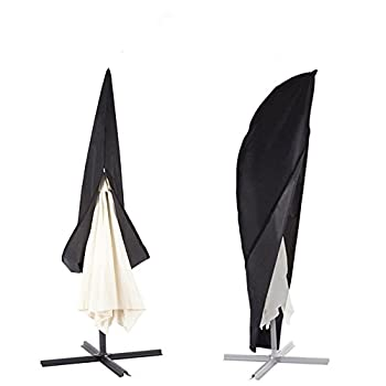 Offset Umbrella & Frame Cover, Fits 9ft to 13ft Cantilever Umbrellas, with Zipper and Water Resistant Fabric